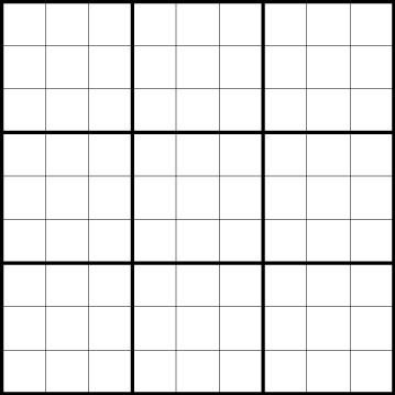 Sudoku - 9x9, 6x6 and Samurai Puzzles